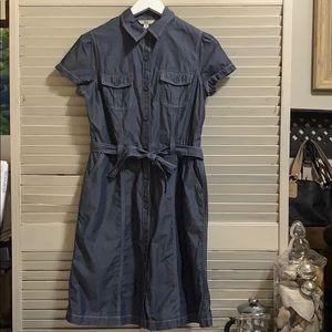 Bass Denim Look Belted Pocket Dress